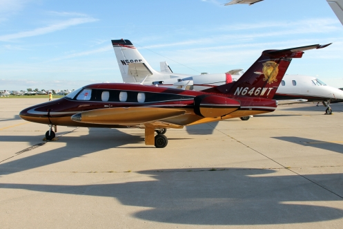 This Eclipse 500 wears one of the most unique paint schemes I have ever seen. The Eclipse 500 is one of the only very-light-jet aircraft to reach production.