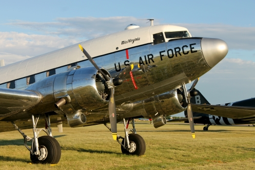 This image is perhaps my favorite from AirVenture 2013. It depicts an immaculate Douglas C-47 basking in the warm glow of the evening sun.