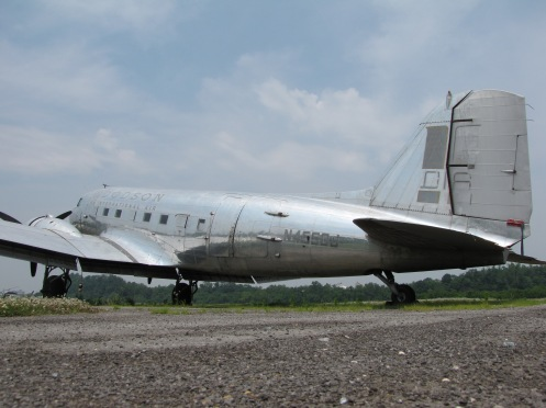 Here is 50J during her period of storage at Downtown Island Airport in Knoxville, Tennessee in 2010. This perspective was an attempt to illustrate how large the aircraft once appeared to me, at a young age.