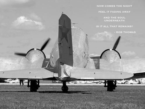 "Farewell and Godspeed, N4550J. Lyrics from ""Now Comes the Night"" by Rob Thomas."